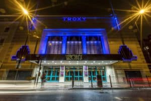 Troxy Exterior in blue