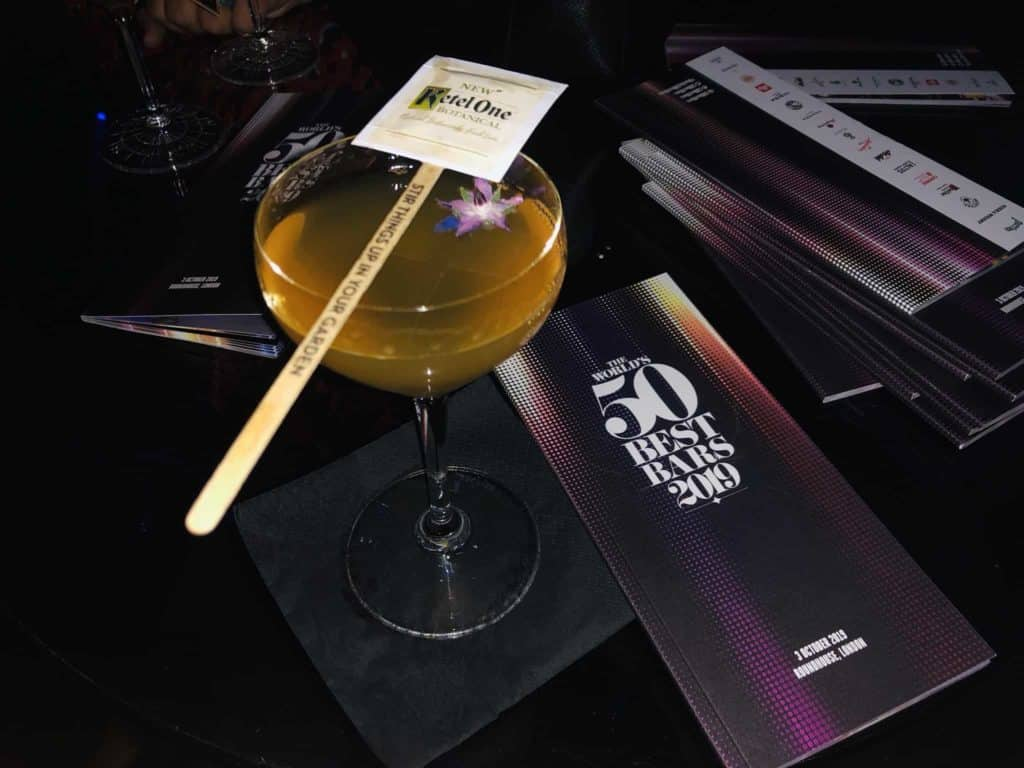 drinks at the world's 50 best bars ceremony